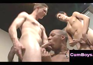 interracial homosexual group sex with hawt dark