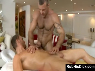 gay bear assfucks guy during massage