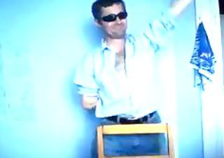 drunk boy dancing. home video