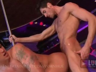 homo strippers fuck live on stage