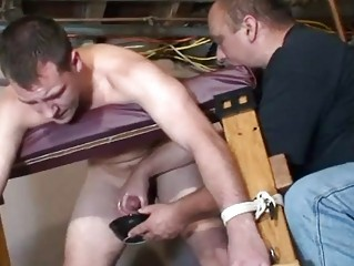 homosexual thraldom serf acquires jerked off