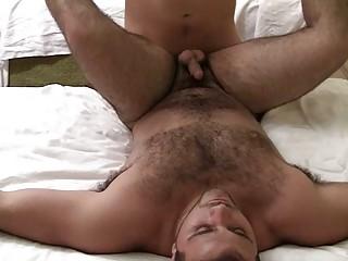 bushy gay stud got his tight ass screwed hard