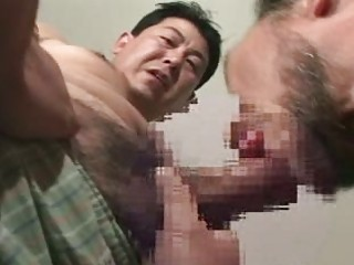 older asian homo lads in sexy blowjob
