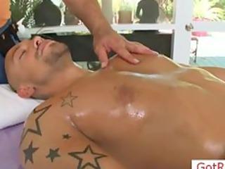 tatooed chap receives massage part10