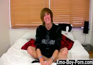 homosexual clip of this cute alternative emo lad