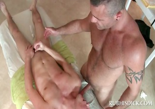 sinful gay masseur licks and rubs legal age