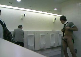 cmnm - boy masturbating in public toilets !