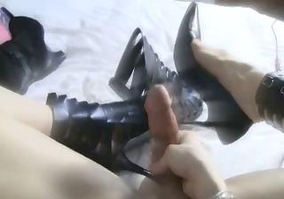 my sheboy shoe fuck and cum fetish