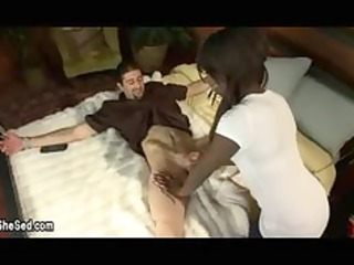 darksome transsexual fuck bondaged gay lad