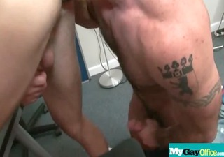 naughty gay fellows drilled hard in the booty at