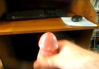 admirable cumshot after a lengthy day at work