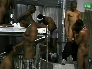 hardcore group sex scene with homosexual swarthy