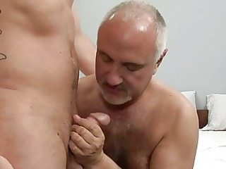 tattooed homo fellow egts hammered by aged gay in