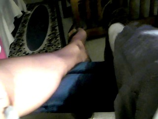 my feet in nylons after a work day.