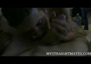 straight fella uncut jock receives oral sex