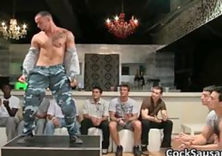 bunch of drunk homo guys go eager in club part4