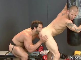 sexy jock gets assfucked at gym part0