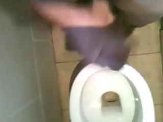 povking jerking off in toilet