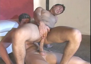 chaps fucking booty and engulfing cock