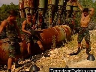 army twinks having brutal homo sex