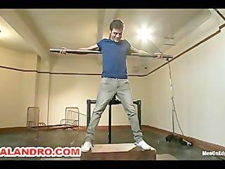 straight stud lance hart endures bondage, balls