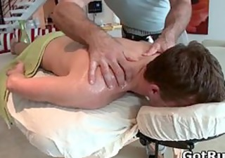 hunky guy gets oiled up and gay massaged part24