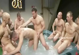 gym homosexual group sex romp with legal age
