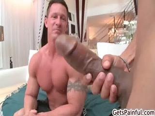 aged muscle chap sucking dark shlong homosexual