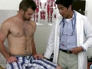 kinky asian homosexual doctor examining hawt