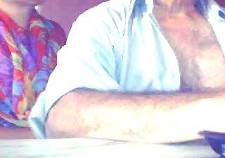 old indian pair in webcam